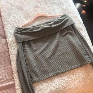 Off the shoulder gray Zara top